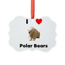 I Love Polar Bears Ornament
