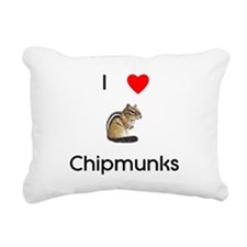I love chipmunks Rectangular Canvas Pillow