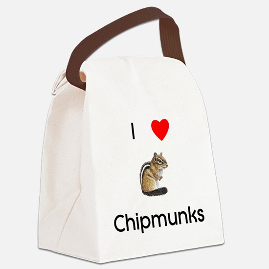I love chipmunks Canvas Lunch Bag