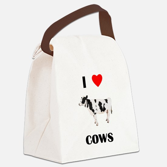 lovecows.png Canvas Lunch Bag