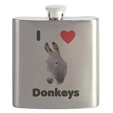 I love donkeys Flask