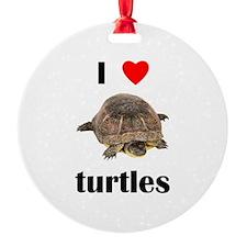 I Love Turtles Ornament