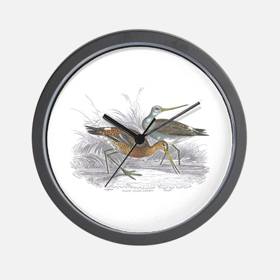 Black Tailed Godwit Wall Clock