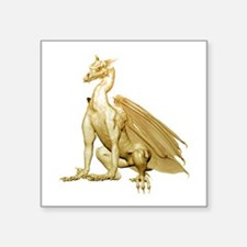 "goldzdragon1-t.png Square Sticker 3"" x 3"""