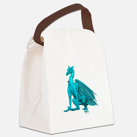 tealzdragon1-t.png Canvas Lunch Bag