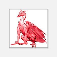 "lightredzdragon-t.png Square Sticker 3"" x 3"""