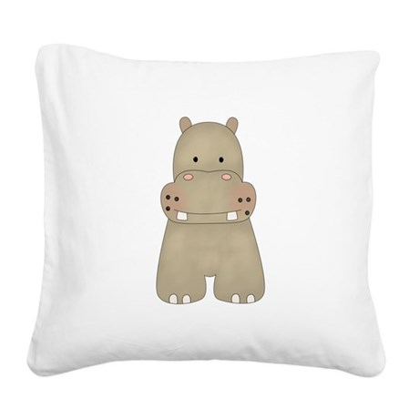 tt-hippo.png Square Canvas Pillow