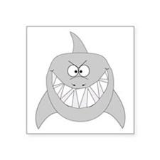 "shark-t.png Square Sticker 3"" x 3"""