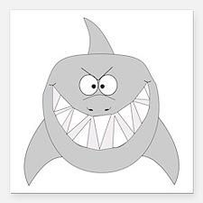 "shark-t.png Square Car Magnet 3"" x 3"""