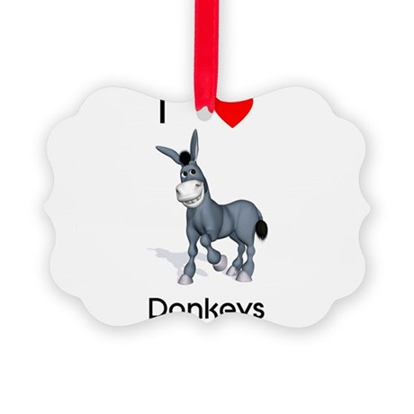 lovedonkeys2.png Picture Ornament