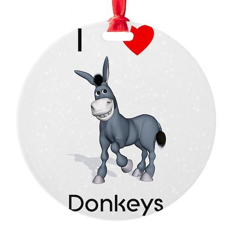 lovedonkeys2.png Round Ornament