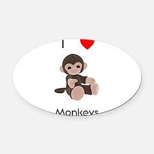 lovemonkeys.png Oval Car Magnet
