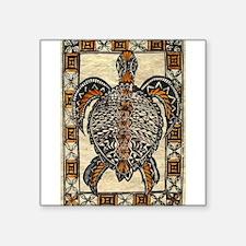 "Tapa Turtle.jpg Square Sticker 3"" x 3"""