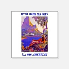 "FlytoFiji.jpg Square Sticker 3"" x 3"""