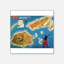 "Fiji1960.jpg Square Sticker 3"" x 3"""