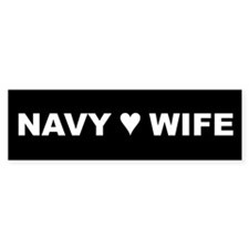 Navy Wife Bumper Bumper Sticker