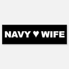 Navy Wife Bumper Car Car Sticker