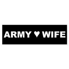 Army Wife Bumper Bumper Sticker