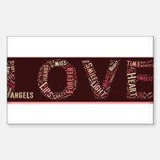 What is love made of? Sticker (Rectangle)