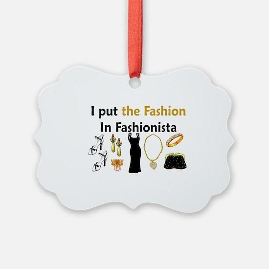Funny Fashion designer Ornament