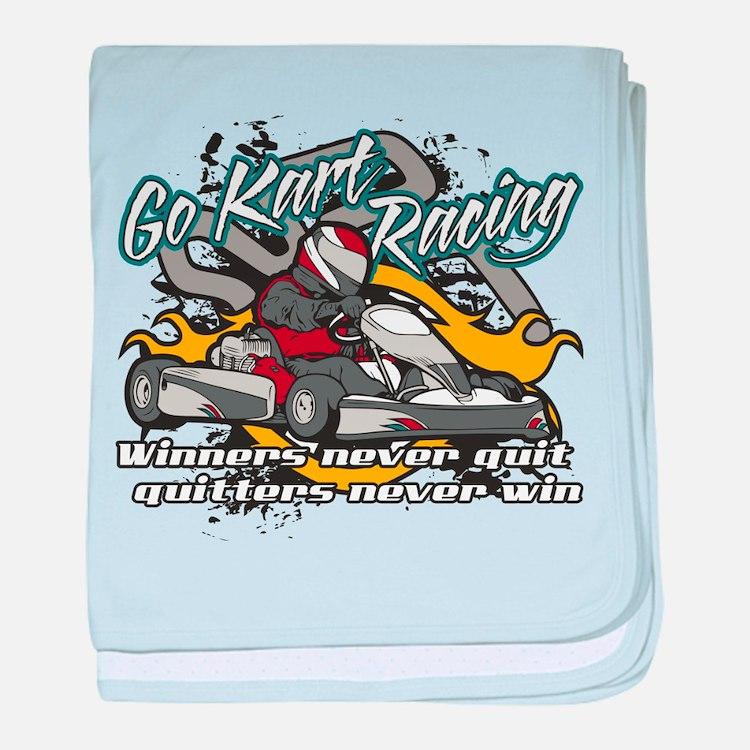 Go Kart Winner baby blanket