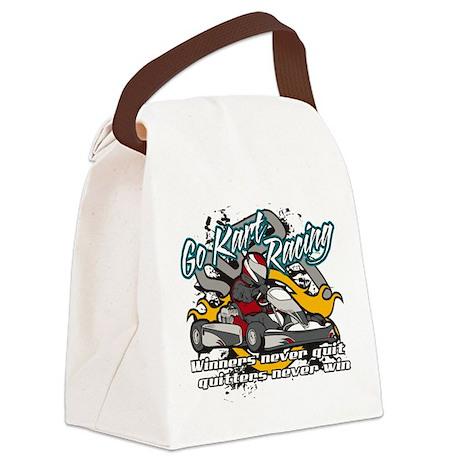 Go Kart Winner Canvas Lunch Bag