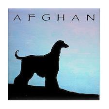 Funny Afgan hound Tile Coaster