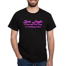 Butt Jiggle Black T-Shirt