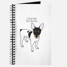 I Love My Rat Terrier Journal