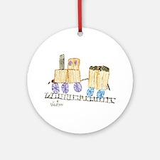 Choo Choo Train by Madilynn Ornament (Round)