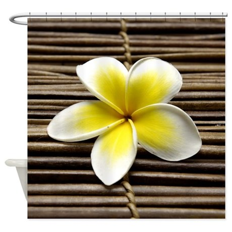 Flower and Bamboo Shower Curtain