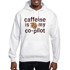 caffeine is my co-pilot hoodie