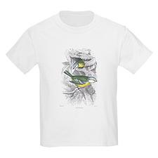 Blue Titmouse Bird (Front) Kids T-Shirt
