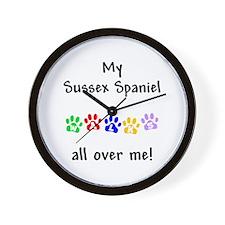 Sussex Spaniel Walks Wall Clock