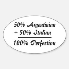 50% Italian +50% Argentinian Oval Decal