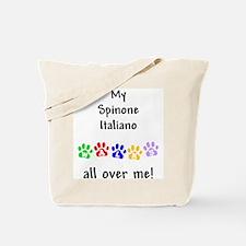 Spinone Italiano Walks Tote Bag