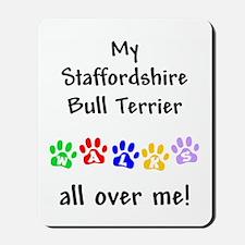 Staffordshire Bull Terrier Walks Mousepad