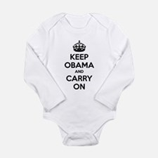 Keep obama and carry on Long Sleeve Infant Bodysui