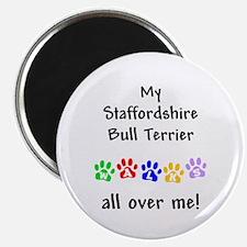 Staffordshire Bull Terrier Walks Magnet