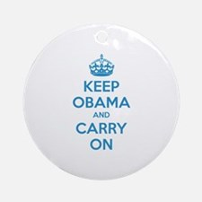 Keep obama and carry on Ornament (Round)