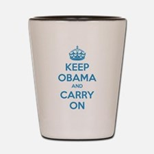 Keep obama and carry on Shot Glass