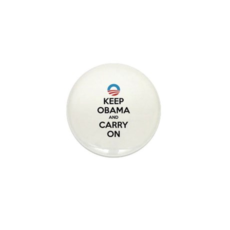 Keep obama and carry on Mini Button (10 pack)