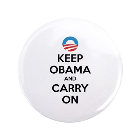 "Keep obama and carry on 3.5"" Button (100 pack)"