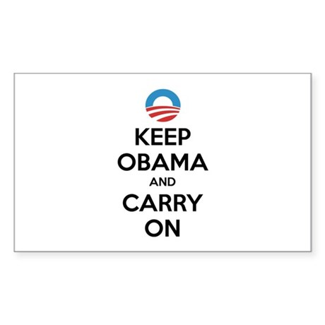 Keep obama and carry on Sticker (Rectangle)