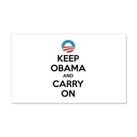 Keep obama and carry on 22x14 Wall Peel