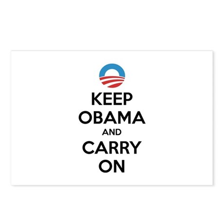 Keep obama and carry on Postcards (Package of 8)