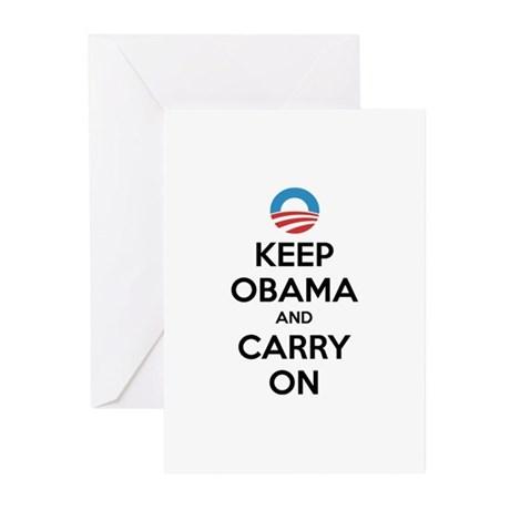 Keep obama and carry on Greeting Cards (Pk of 10)