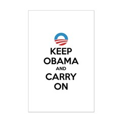 Keep obama and carry on Posters