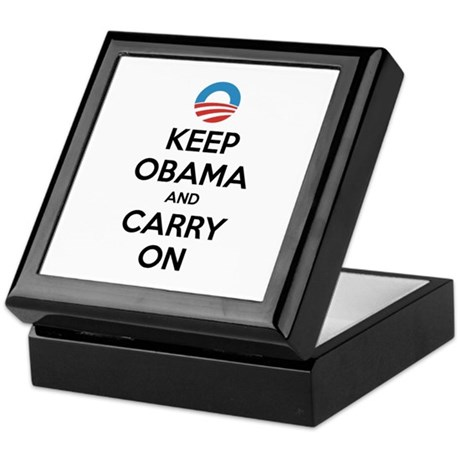 Keep obama and carry on Keepsake Box