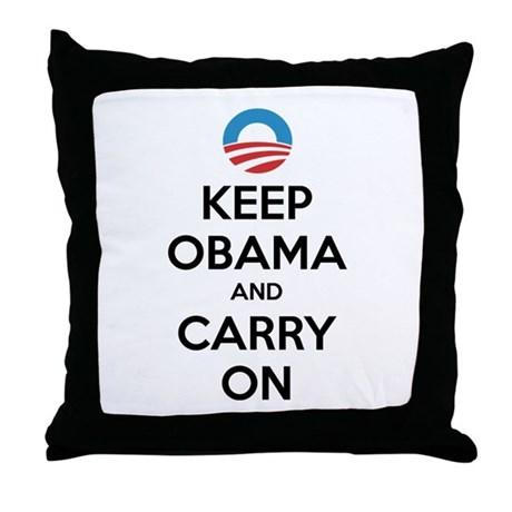 Keep obama and carry on Throw Pillow